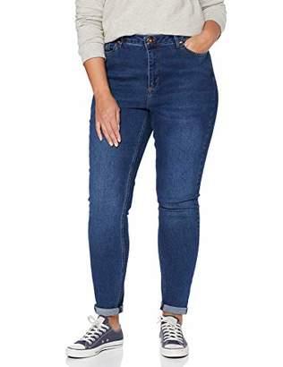 Junarose NOS Women's Jrzero Nova Mb Jeans-K Noos Slim Medium Blue Denim, 33W / 42L