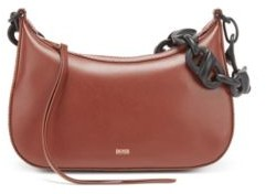HUGO BOSS Leather hobo bag with contrast chain strap