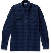 Boglioli Checked Cotton-flannel Shirt - Blue
