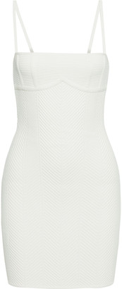 Herve Leger Ribbed Bandage Mini Dress