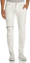 G Star 5620 3D Zip Knee Super Slim Fit Jeans in Inza White - 100% Exclusive