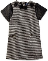 Andy & Evan Sequins Striped Faux Fur Sweater Dress (Toddler & Little Girls)