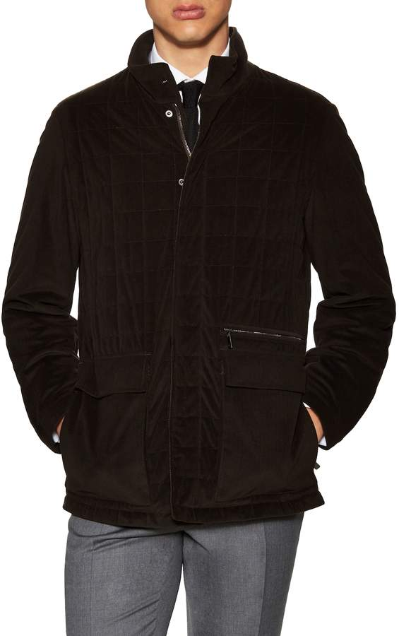 Canali Men's Woven Stand Collar Jacket