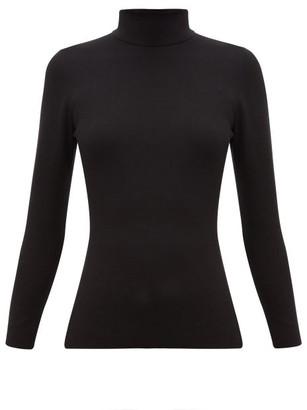 Joseph Roll-neck Silk-blend Sweater - Womens - Black