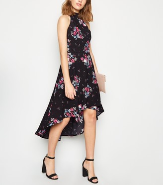 New Look Mela Floral Butterfly Dip Hem Dress