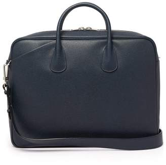 Valextra My Logo Pebbled-leather Briefcase - Mens - Navy