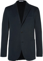 Boglioli - Blue Slim-fit Brushed Stretch-cotton Twill Suit Jacket