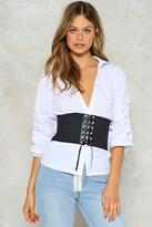 Nasty Gal nastygal Hold Me Lace-Up Corset Belt