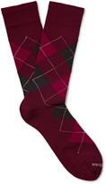 Marcoliani - Argyle Merino Wool-blend Socks