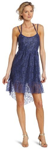 Only Hearts Club Women's Charlotte Lace Cross-Back Tiered Dress