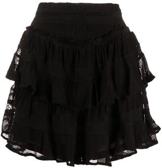 IRO Tiered Embroidered Skirt