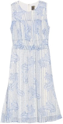 Taylor Ruffle Waist Printed Chiffon Dress (Plus Size)