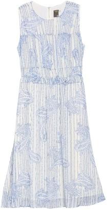 Taylor Ruffle Waist Printed Chiffon Dress (Plus Size)