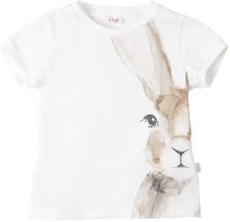 Il Gufo Bunny Printed Cotton Jersey T-shirt