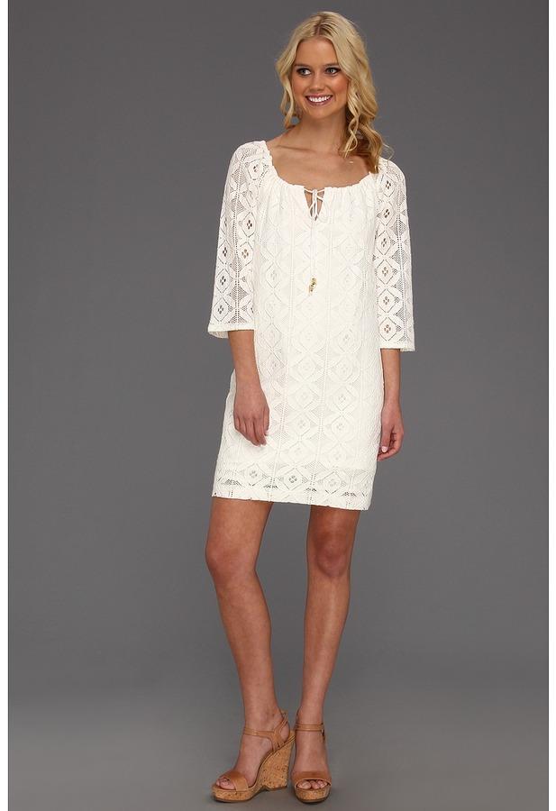 Trina Turk Amplify Dress (Whitewash) - Apparel