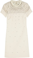 Temperley London Embellished wool and cashmere-blend dress