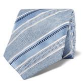 Brioni 8cm Striped Silk-Jacquard Tie
