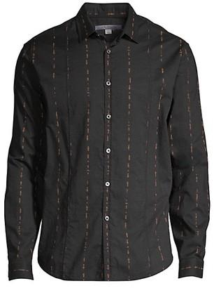 John Varvatos Zigzag Stitch Sport Shirt