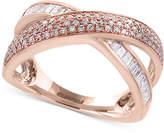 Effy Pavé Rose by Diamond Crisscross Ring (5/8 ct. t.w.) in 14k Rose Gold