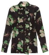Marni Dakota floral-print silk blouse