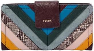 Fossil Logan RFID Leather Tab Clutch