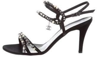 Chanel Embellished CC Sandals