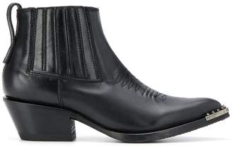 Ash Pepper spiked-toe ankle boots
