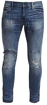 G Star Men's Zip Knee Distressed Skinny Jeans