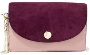 Diane von Furstenberg Two-tone Leather Clutch