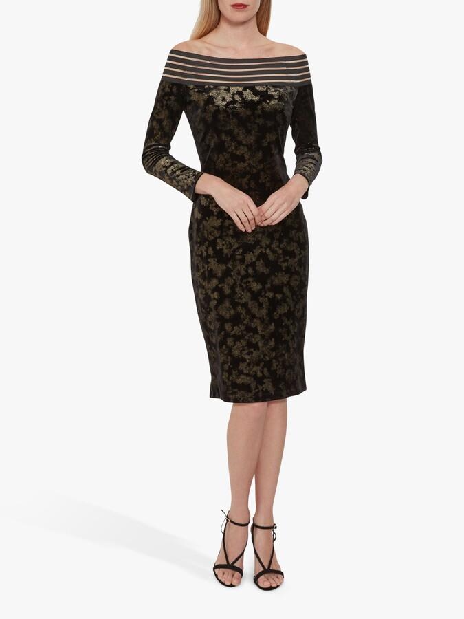 Thumbnail for your product : Gina Bacconi Jonina Velvet Dress