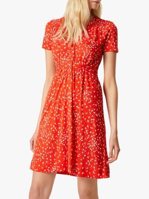 French Connection Komo Dress, Blazer Red/White