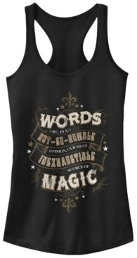 Fifth Sun Harry Potter Dumbledore Words Are Magic Quote Women's Racerback Tank