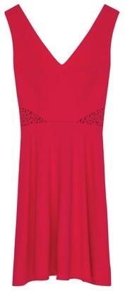 Claudie Pierlot Lace-Trim Skater Dress