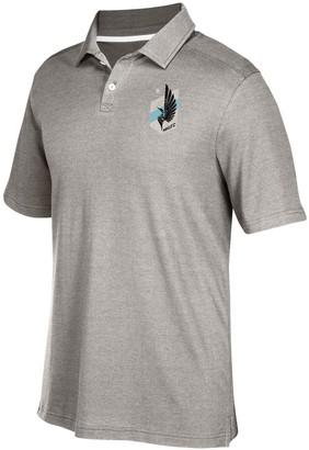 adidas Men's Gray Minnesota United FC Team Logo Polo