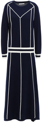 Chinti and Parker Striped Wool And Cashmere-blend Midi Dress
