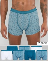 Asos Trunks With Geo Print 7 Pack