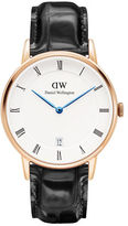 Daniel Wellington Dapper Reading Rose Gold and Leather Strap Watch, 38mm