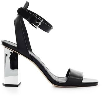 Michael Kors Petra Black Leather Sandal