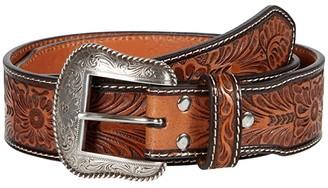 M&F Western Embossed Cactus Concho Belt (Brown/Tan) Men's Belts