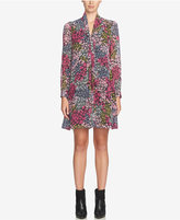 CeCe Aleah Floral-Print Tie-Neck Shift Dress