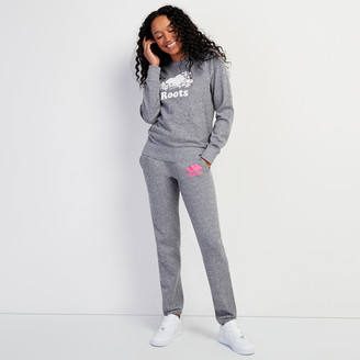 Roots Original Sweatpant Neon Pink Logo