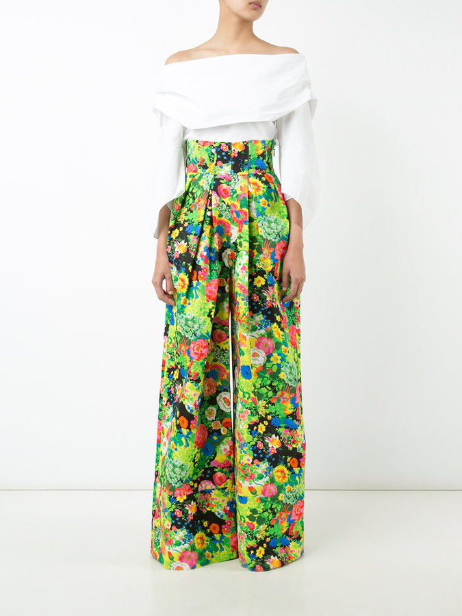 Rosie Assoulin floral print flared pants