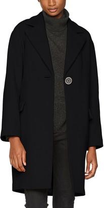Cacharel Women's MANTEAU DROIT Midi Coat Black (Black) 8 (Manufacturer Size: 36)