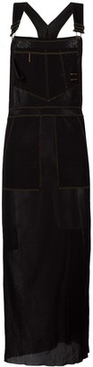 Jean Paul Gaultier Pre-Owned sheer dungaree apron dress