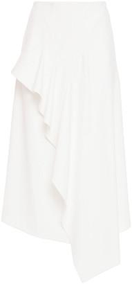 Roland Mouret Asymmetric Draped Stretch-crepe Midi Skirt