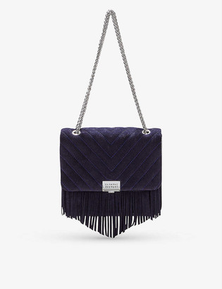 Claudie Pierlot Angela Fringes suede shoulder bag