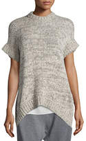 Eileen Fisher Crimp Twist Short-Sleeve Top