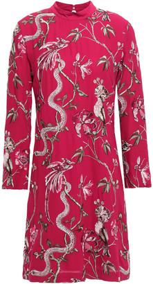 Just Cavalli Embroidered Crepe Mini Dress