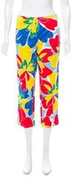 David Meister Cropped Floral Pants