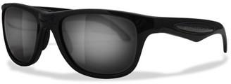 Amphibia Wave Full Frame Vapor Adult Sunglasses with Aquaphobic Coating, Matte Black